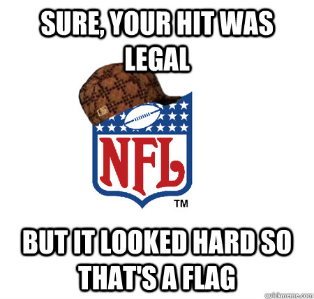 Sure, your hit was legal but it looked hard so that's a flag