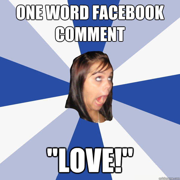 One word facebook Comment
