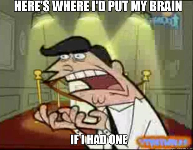 here's where i'd put my brain IF I HAD ONE