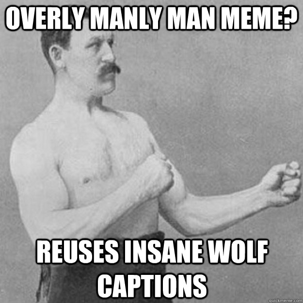 Overly Manly Man Meme? Reuses Insane wolf captions - Overly Manly Man Meme? Reuses Insane wolf captions  Misc
