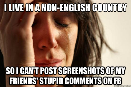 Photo comments in english for fb