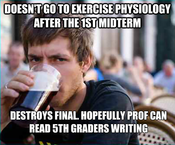 Exercise Physiology written write