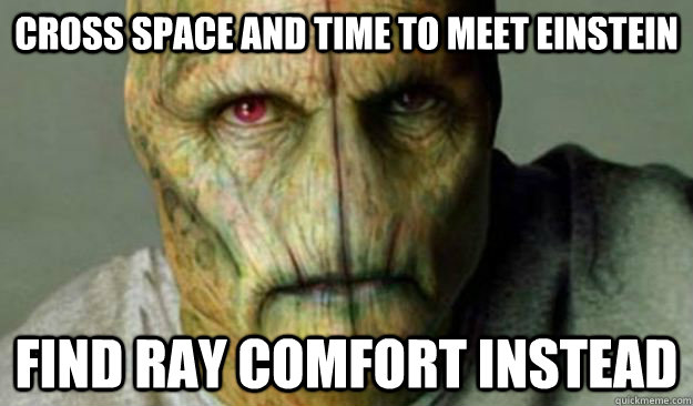 Cross space and time to meet einstein find ray comfort instead