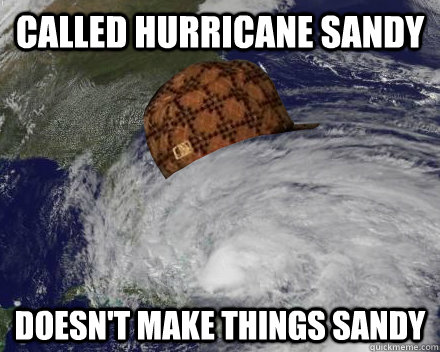Called Hurricane Sandy Doesn't make things sandy - Called Hurricane Sandy Doesn't make things sandy  Misc