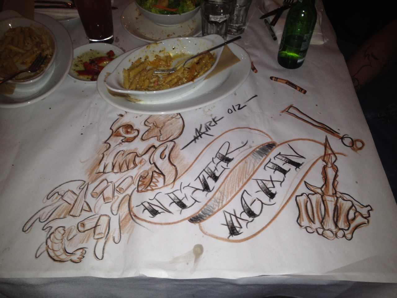 So my tattoo artist went to Macaroni grill...... -   Misc