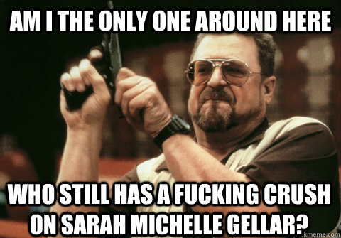 Am I the only one around here who still has a fucking crush on Sarah Michelle Gellar? - Am I the only one around here who still has a fucking crush on Sarah Michelle Gellar?  Am I the only one