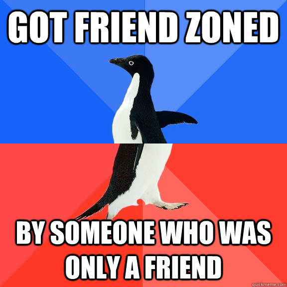 Got friend zoned by someone who was only a friend - Got friend zoned by someone who was only a friend  Socially Awkward Awesome Penguin