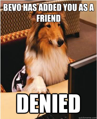 Bevo has added you as a friend DENIED - Bevo has added you as a friend DENIED  Internet Reveille