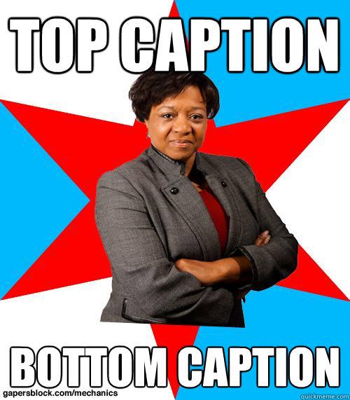 Top caption Bottom caption - Top caption Bottom caption  Mayor Van Pelt-Watkins