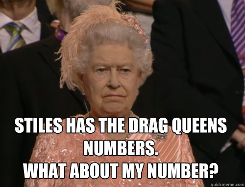Stiles has the DRAG queens numbers. What about MY number?