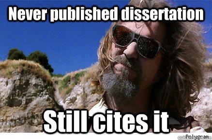 Never published dissertation Still cites it   Old Academe Stanley