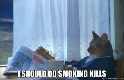I should do smoking kills -  I should do smoking kills  I should buy a bike