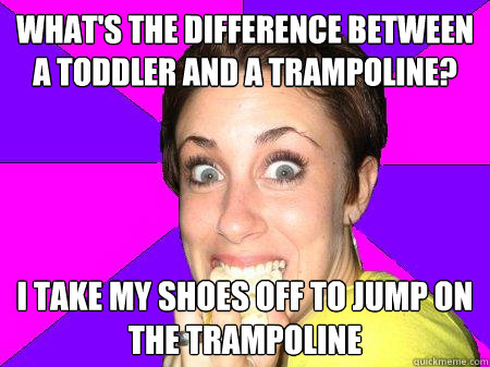 934012819d71d7a29bdafd418e7cc1c2133d5715485459c76533133e8b7b8c41 what's the difference between a toddler and a trampoline? i take,Casey Anthony Memes