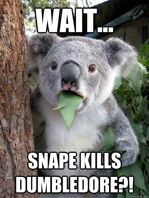 Wait... Snape kills dumbledore?!  Surprised Koala