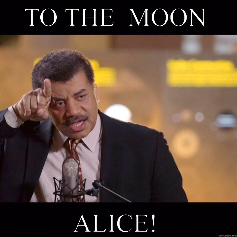 Alice To The Moon Meme Wwwmiifotoscom