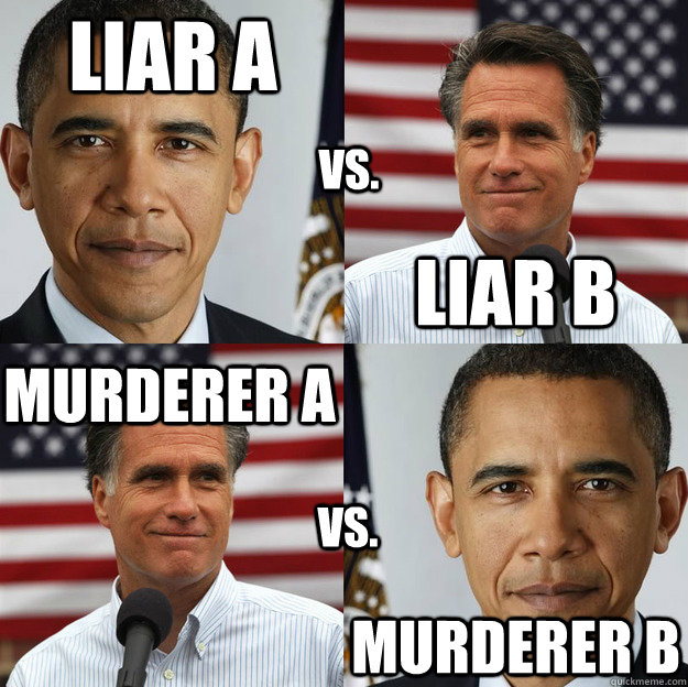 Liar A Liar B murderer A murderer B vs. vs.  Wheres the difference