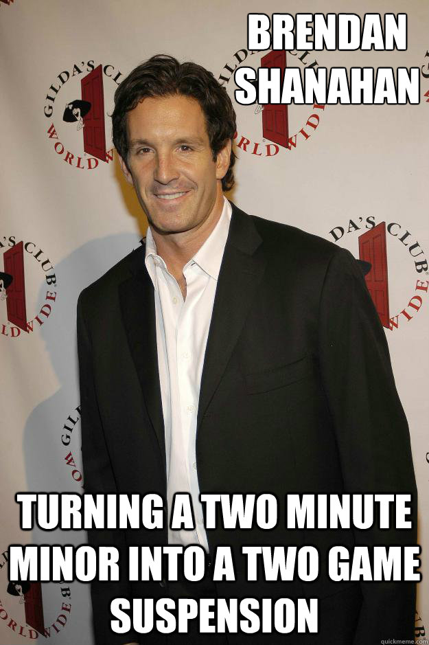 Brendan Shanahan Turning a two minute minor into a two game suspension