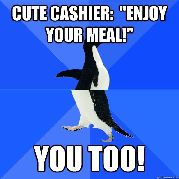 Cute cashier: