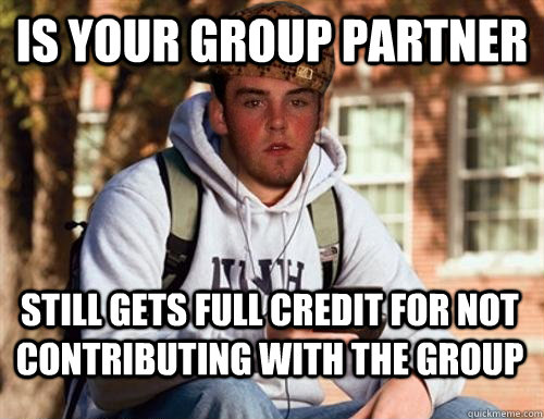 is your group partner still gets full credit for not contributing with the group