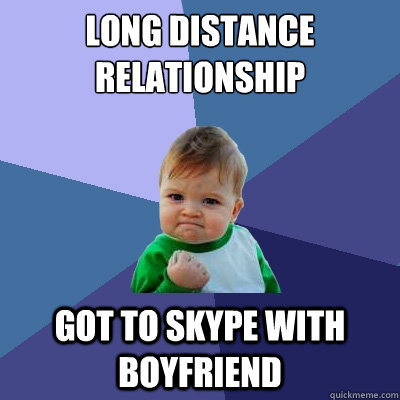 Online dating and long distance relationships