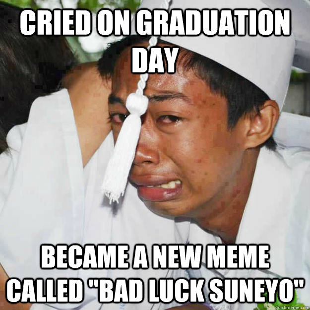 cried on graduation day became a new meme called