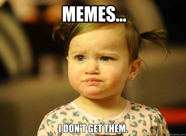 Memes... I don't get them.  Judgemental Toddler
