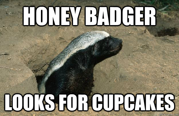 Honey Badger Looks for cupcakes