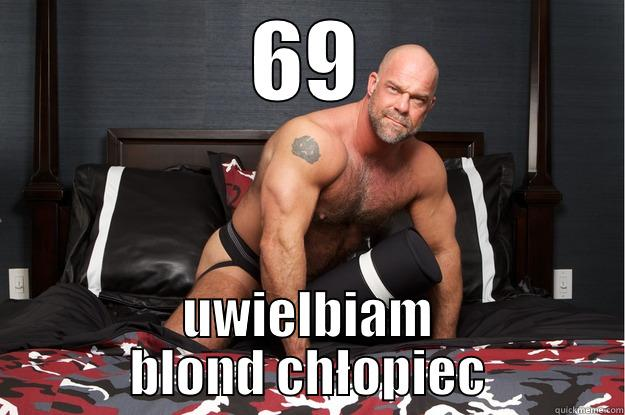 69 UWIELBIAM BLOND CHŁOPIEC Gorilla Man