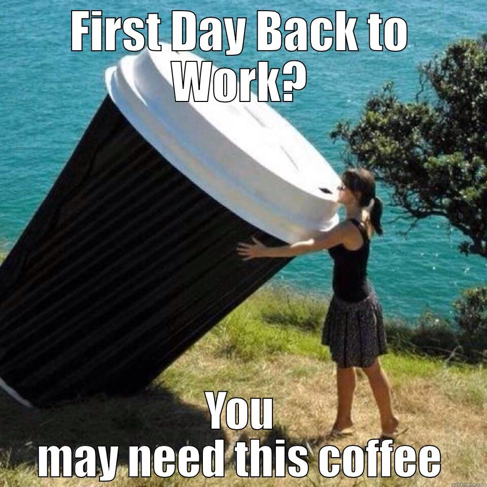 First Day At Work - FIRST DAY BACK TO WORK? YOU MAY NEED THIS COFFEE Misc