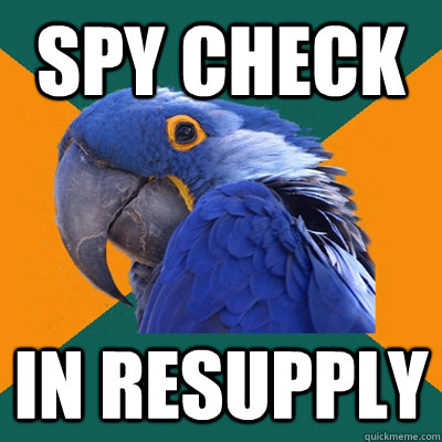 Spy Check In resupply  - Spy Check In resupply   Paranoid Parrot
