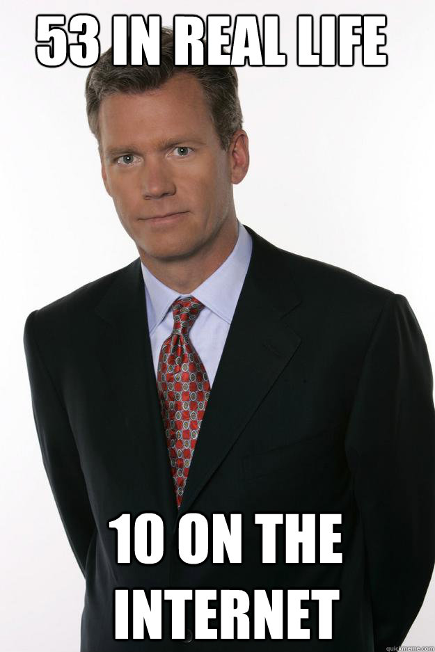 53 in real life 10 on the internet - 53 in real life 10 on the internet  Chris Hansen