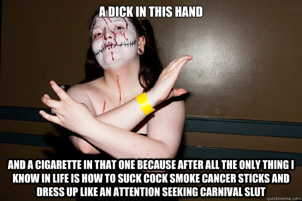 One handed slut