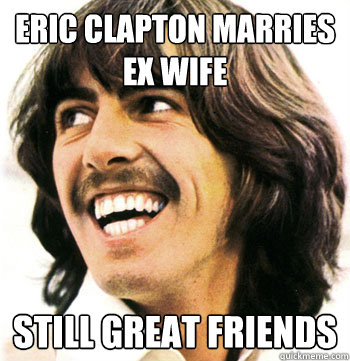 Eric Clapton marries ex wife still great friends