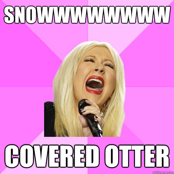 SNOWWWWWWWW covered otter - SNOWWWWWWWW covered otter  Wrong Lyrics Christina