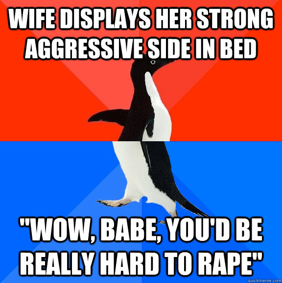 Wife displays her strong aggressive side in bed