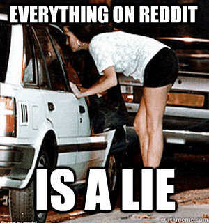 EVERYthing on reddit IS A LIE - EVERYthing on reddit IS A LIE  Karma Whore
