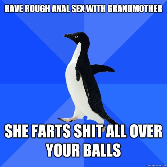 She farts pushes turd anal