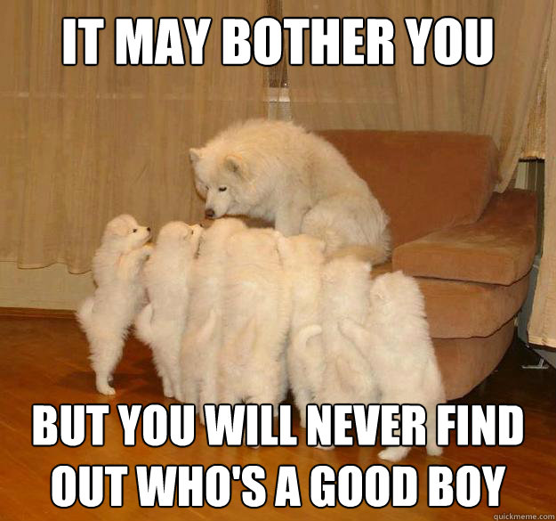 it may bother you but you will never find out who's a good boy - it may bother you but you will never find out who's a good boy  Misc