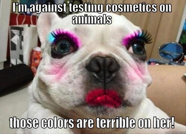 Cosmetics on animals?