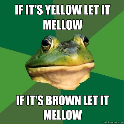 If it's yellow let it mellow If it's brown let it mellow - If it's yellow let it mellow If it's brown let it mellow  Foul Bachelor Frog
