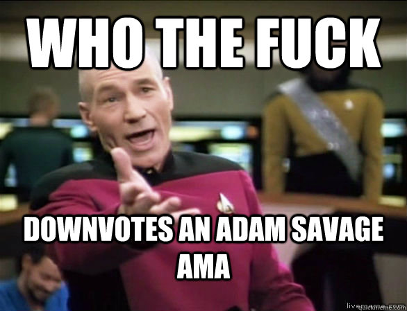 who the fuck downvotes an adam savage ama - who the fuck downvotes an adam savage ama  Annoyed Picard HD