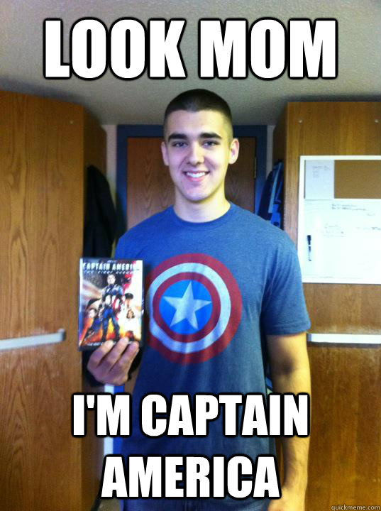 LOOK MOM I'M CAPTAIN AMERICA - LOOK MOM I'M CAPTAIN AMERICA  Captain America