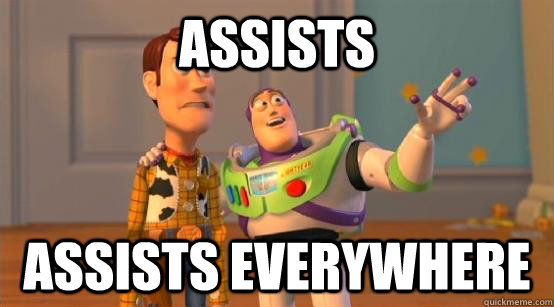 assists assists everywhere - assists assists everywhere  Buzz Glitter