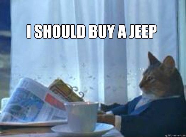 I should buy a jeep  - I should buy a jeep   I should buy a boat cat
