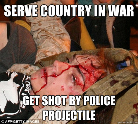 Serve Country in War Get shot by police projectile - Serve Country in War Get shot by police projectile  Scott Olsen Occupy