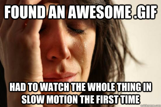 Found an awesome .gif had to watch the whole thing in slow motion the first time - Found an awesome .gif had to watch the whole thing in slow motion the first time  First World Problems