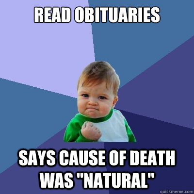 Read Obituaries Says Cause of death was