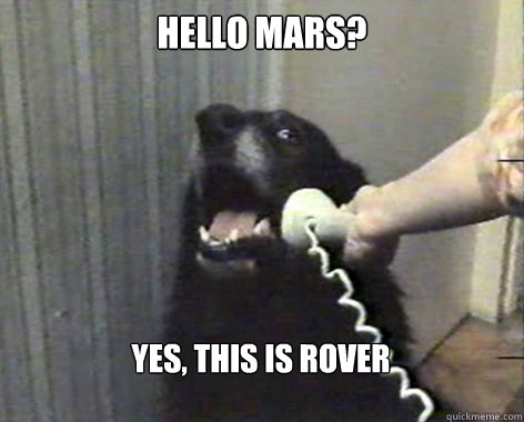 hello mars? yes, this is rover  yes this is dog
