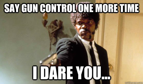 Say Gun control one more time I dare you...