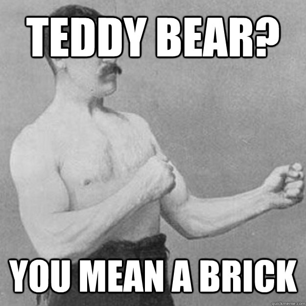 Teddy Bear?  You mean a brick - Teddy Bear?  You mean a brick  Misc